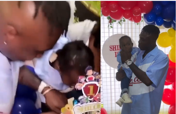 Rapper Zlatan Ibile and his baby mama, Davita celebrate their sons first birthday in UK