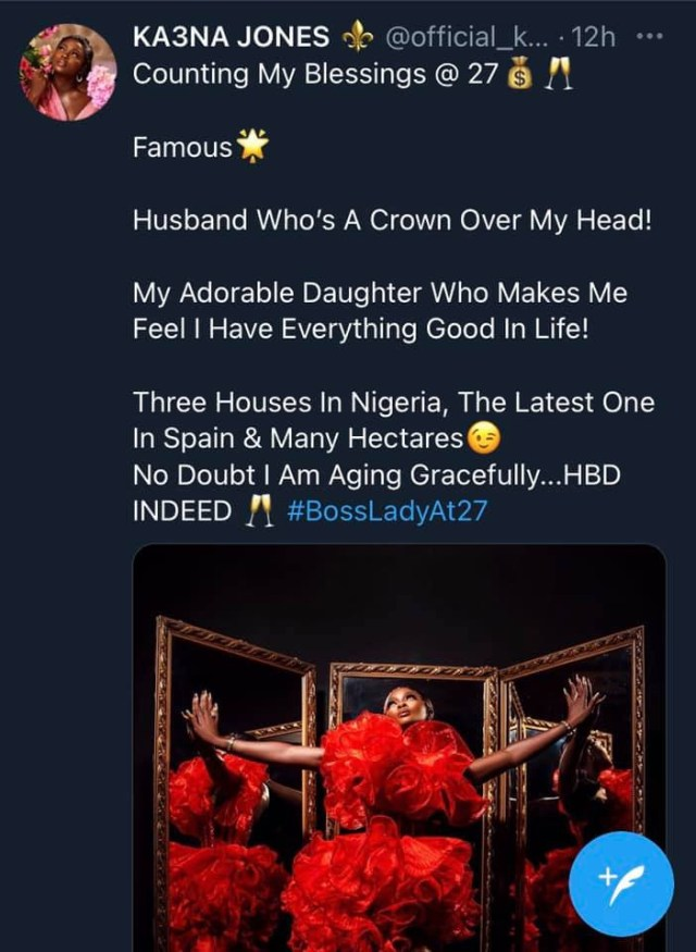 I have three houses in Nigeria and one in Spain - BBNaija's Ka3na  1