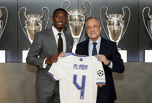 David Alaba unveiled as a Real Madrid player and handed No.4 shirt