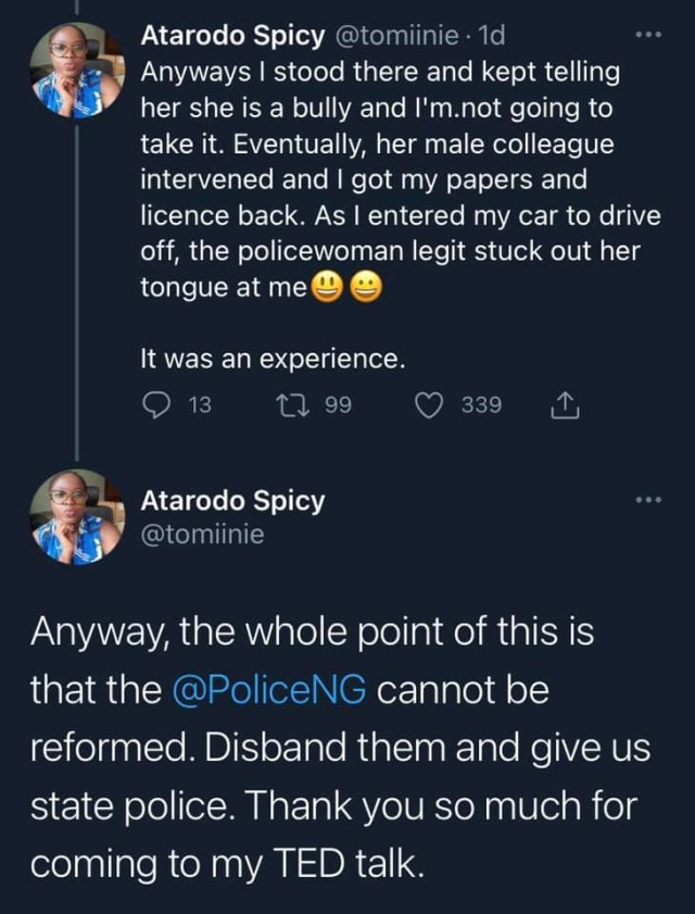 Doctor narrates how a female police officer tried bullying her for giving her documents of her car with left hand
