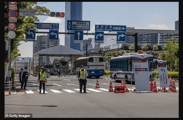 Panic at the Tokyo Games as 12 police officers guarding athletes at the Olympic Village ''test positive for Covid-19''
