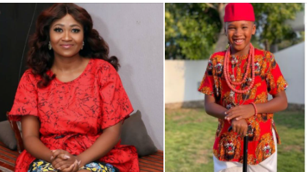 Actress Mary Remmy Njoku shares her son's birth story as he turns 8