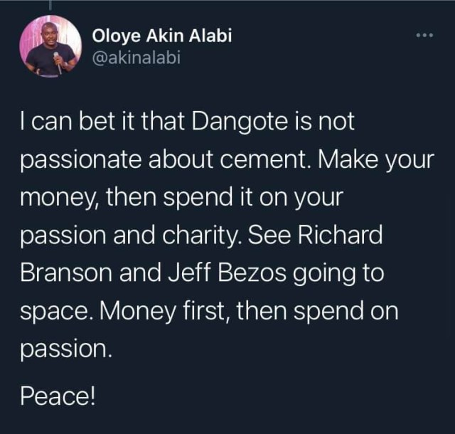 Only lazy people think it is only their passion that will bring in their livelihood  Akin Alabi 2