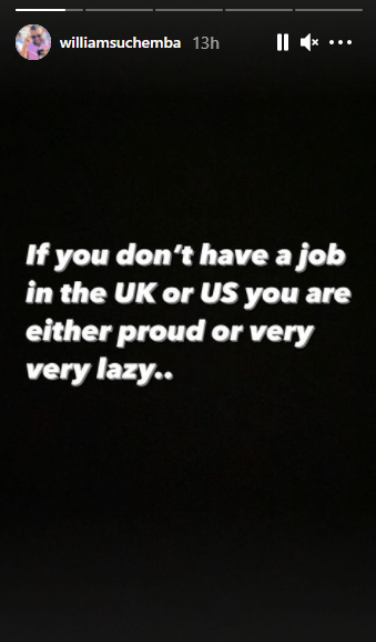 If you don't have a job in the UK or US, you are either proud or lazy - Actor Williams Uchemba  1