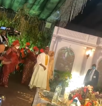 First photos and video from wedding dinner of President Buhari's son, Yusuf