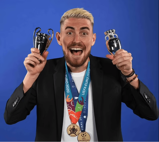 Jorginho crowned UEFA's Player of the Year after winning the Champions League with Chelsea and helping Italy to Euro 2020 glory