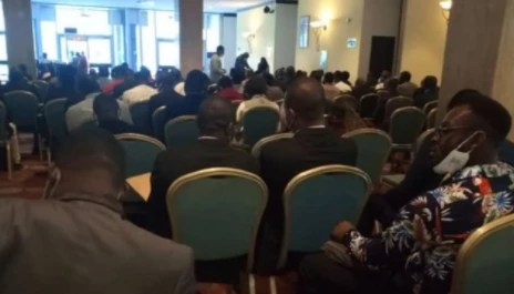 DSS operatives allegedly disperse doctors at Saudi Arabia recruitment exercise in Abuja as FG says the exercise is embarrassing