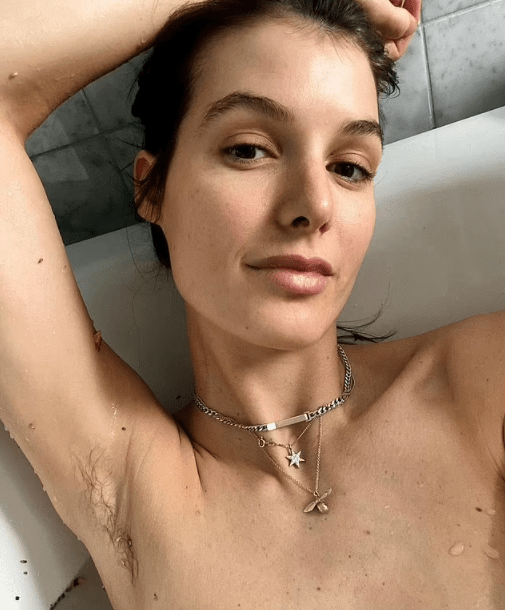 Model Isabella Carlstrom reveals why she's growing out her underarm hair after welcoming daughter withformer AFLW star Moana Hope