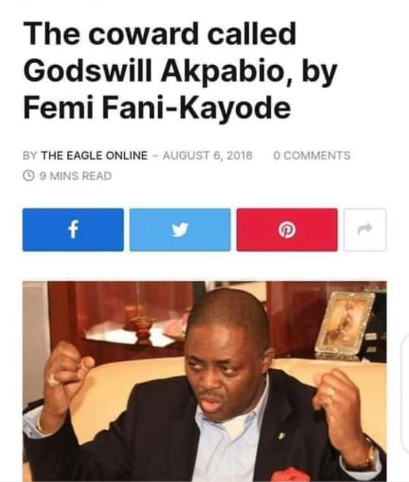 Businesswoman, Blessing Osom shares throwback piece by 'Femi Fani-Kayode calling Akpabio a coward and traitor for defecting to APC'''