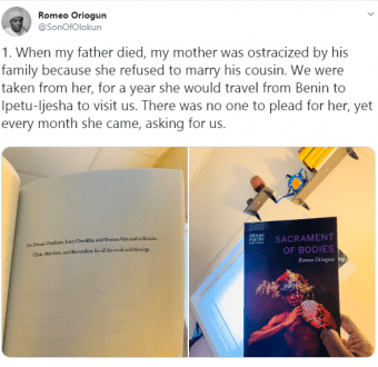 Nigerian author narrates how his mother was ostracized after his father