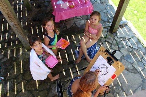 caricature artist drawing kids ontario