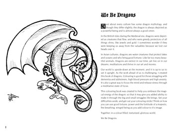 We Be Dragons colouring book