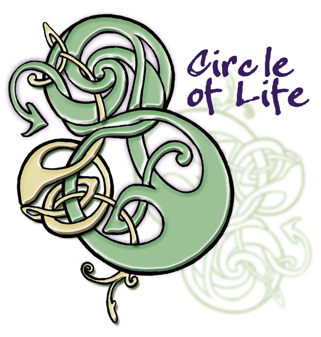 Contemporary Celtic Knot Design, hand drawn, digital creation