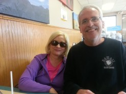 Ken & I at Vermillion, SD truck stop on May 2015 moving day