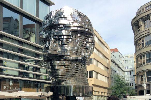 Kafka Head statue