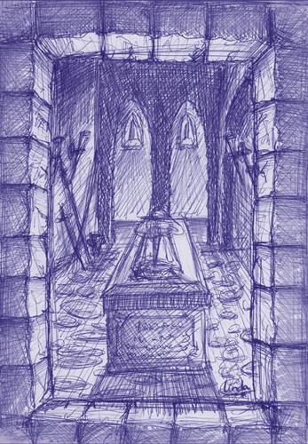 Illustratie graftombe pen