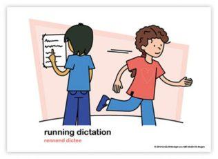 Dagritmekaart bovenbouw running dictation