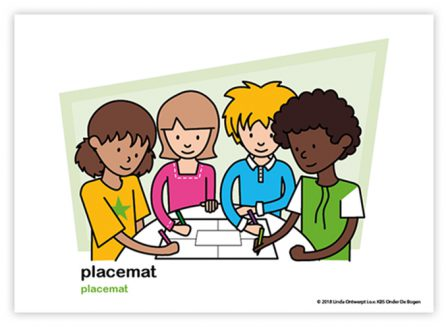 Dagritmekaart bovenbouw placemat