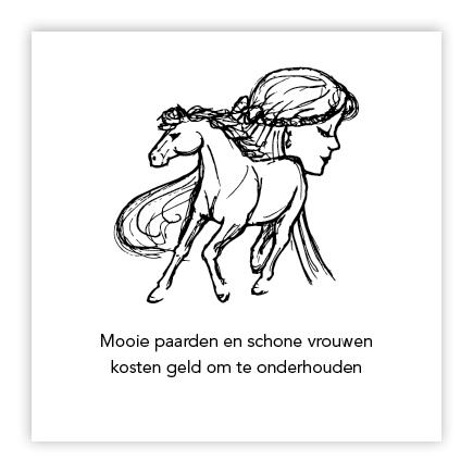 illustratie paard en vrouw
