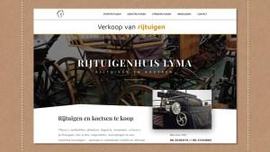 Webdesign Rijtuigenhuis Lyma