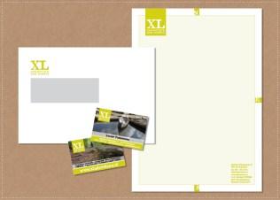 ontwerp huisstijl logo visitekaartje briefpapier envelop XL Adventure & Events
