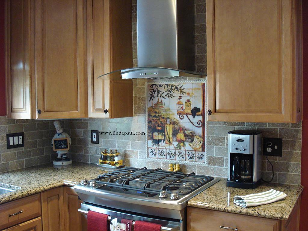 - Tuscan Tile Murals Kitchen Backsplash. Italian Tile Murals Tuscany