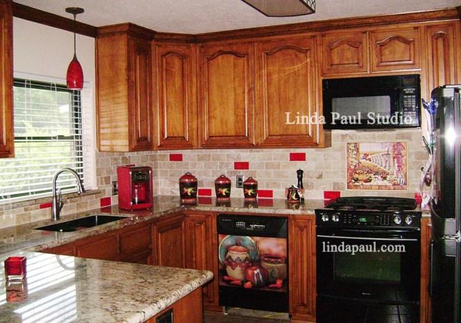 Kitchen Backsplash Red