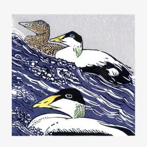 Common Terns - Linocut