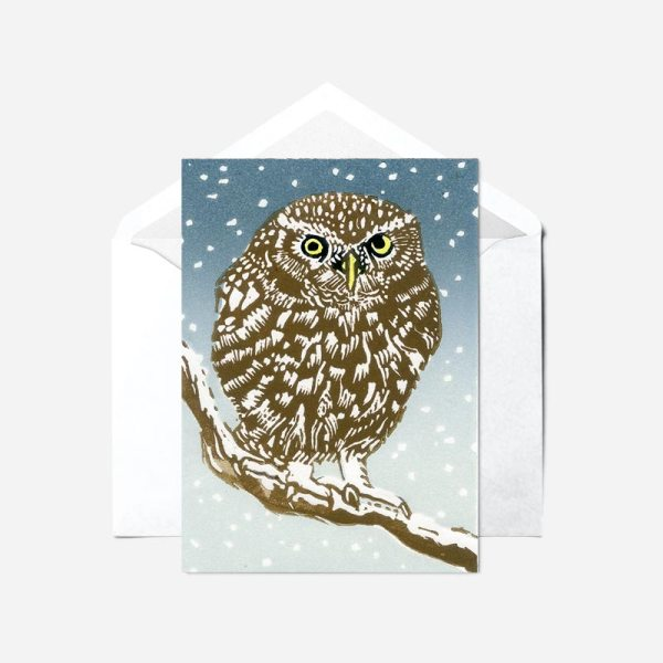 A Winter Perch - Card