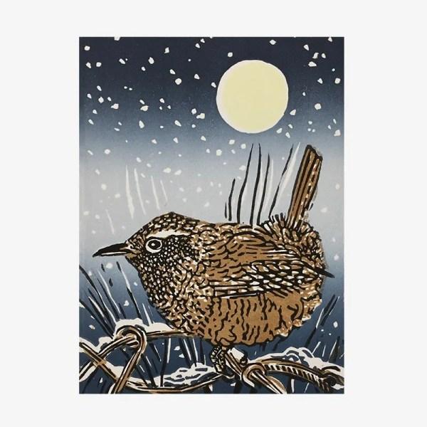 Winter Wren- Linocut