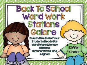 Back to School Word Work Galore
