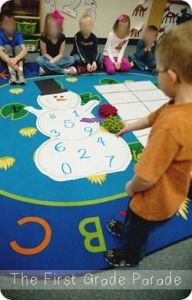 Snowman Bean Bag Math