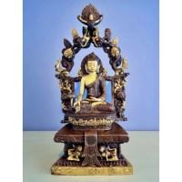 Prachtig altaarstuk Boeddha brons