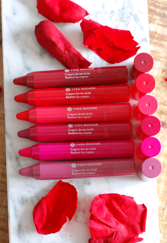 Yves Rocher zéro défaul mattifying and long-lasting lip primer radiant lip crayon spring