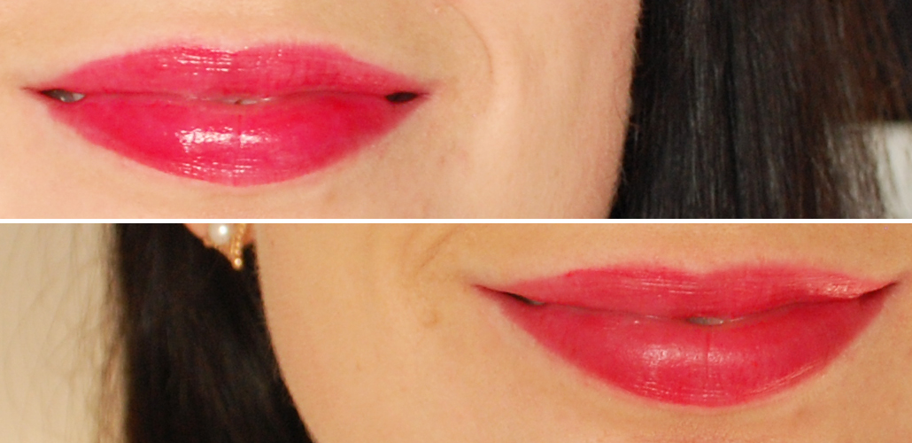 Yves Rocher zéro défaul mattifying and long-lasting lip primer swatch radiant lip crayon Rouge aquarelle
