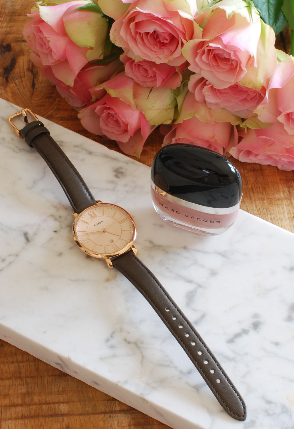 beauty favorieten april, lifestyle by linda, marc jacobs, fossil watch