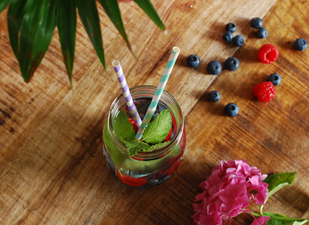 Forest Fruit & Munt water recept detox lifestyle by linda