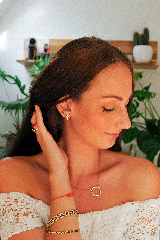 Ear Party oorbellen rosé goud Lifestyle by Linda