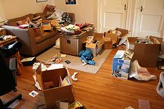 cluttered living room, camera declutter tool