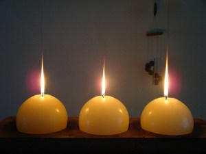 three spherical candles, Chinese new years cleansing