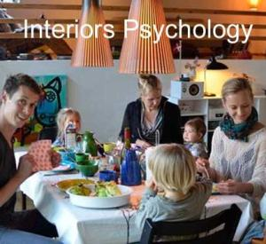 Family enjoying cozy meal together = interior psychology