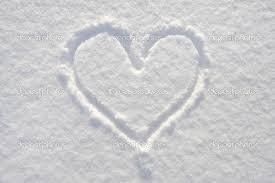 Valentine's true meaning: Valentine's heart in snow