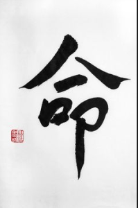 Destiny Chinese calligraphy Feng shui anxiety