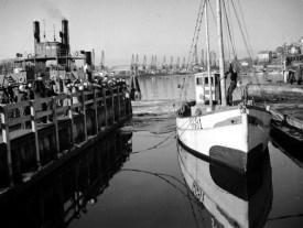 1956, 11 mars, vid Sannegårdsfärjan i Göteborg
