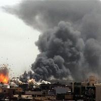 Civila bombas i Mosul