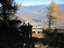 """Blick auf dem Kalterer See vom """"Verbrennten Eck"""" aus"""