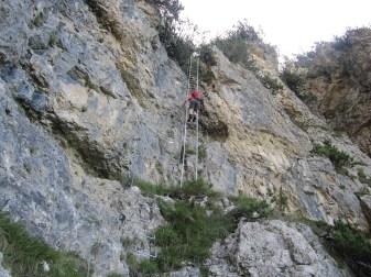 Abstieg vom Monte Cuc