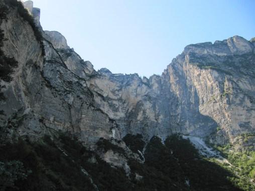 Blick zum Gipfel der Wigger Spitz und des Monte Cuc - auf dem Rückweg nach Fennberg