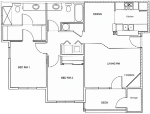 2 Bed / 2 Bath / 1,084 sq ft / Rent From: $1500