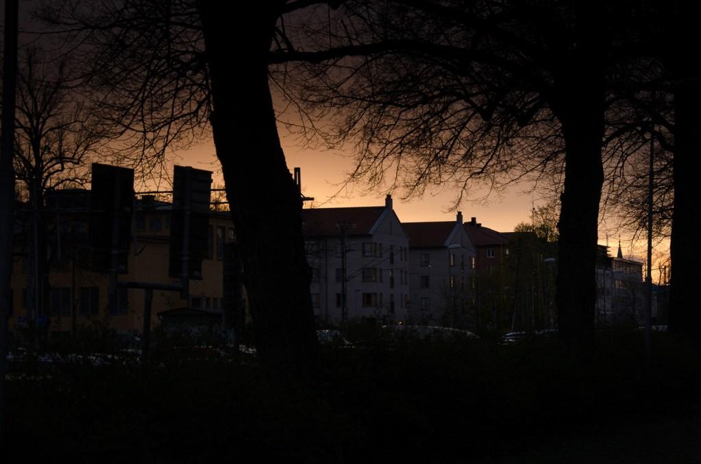 Solnedgång vid Österplan